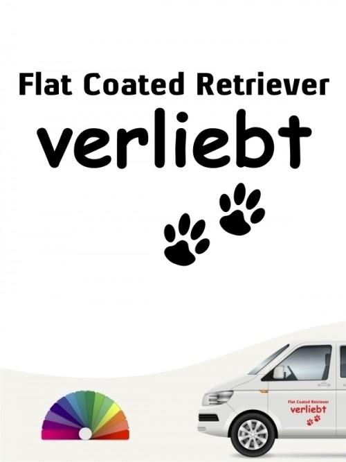 Hunde-Autoaufkleber Flat Coated Retriever verliebt von Anfalas.de