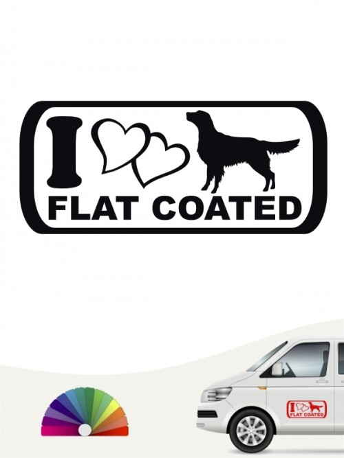 I Love Flat Coated Autosticker anfalas.de