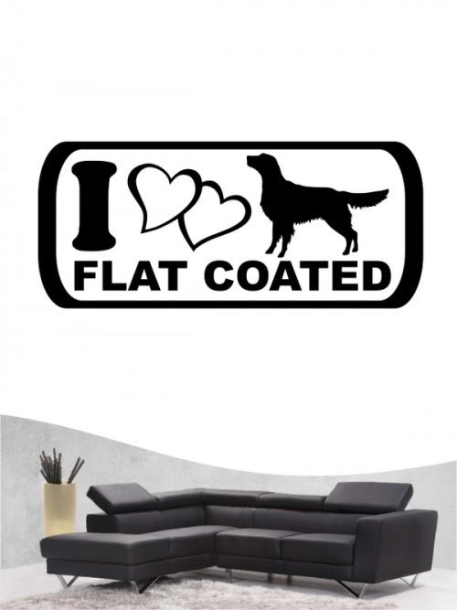 Flat Coated Retriever 6 - Wandtattoo