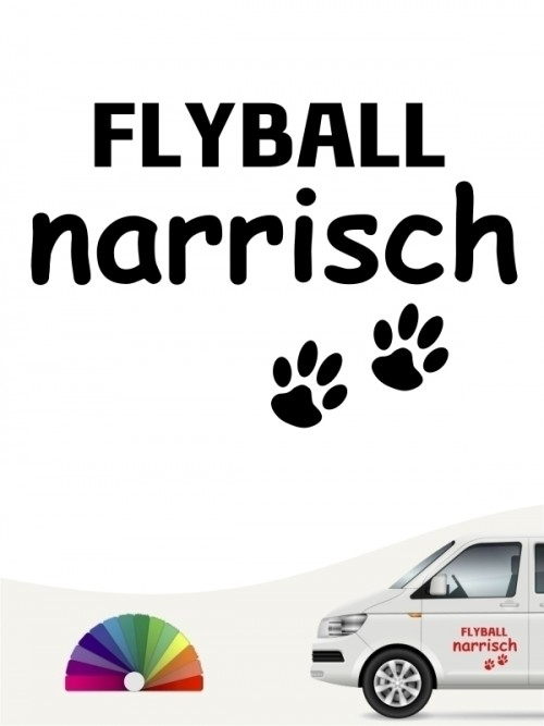 Hunde-Autoaufkleber Flyball narrisch von Anfalas.de