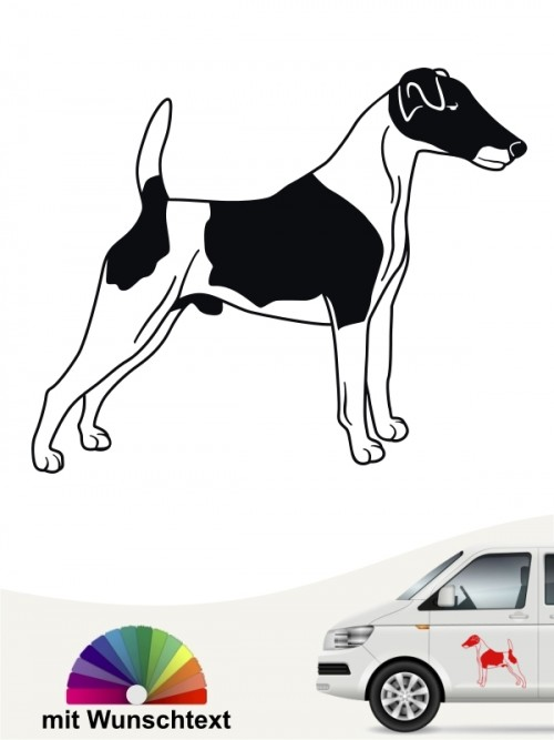 Fox Terrier Heckscheibenaufkleber mit Wunschtext anfalas.de