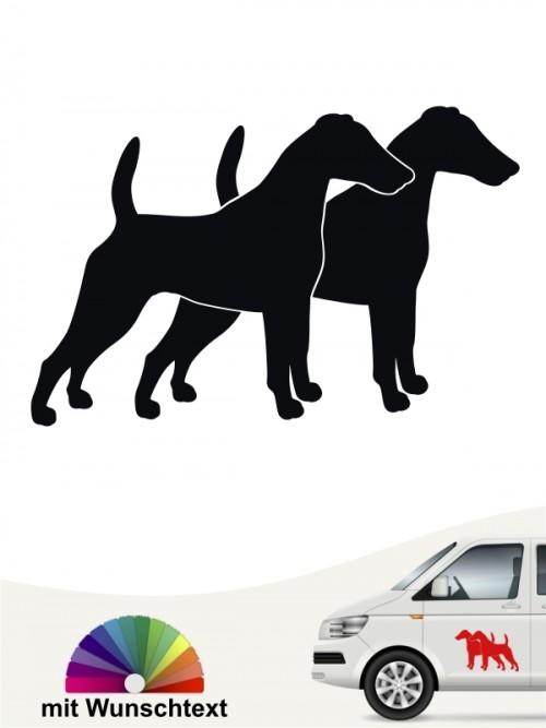 Doppelte Silhouette Fox Terrier Autosticker anfalas.de