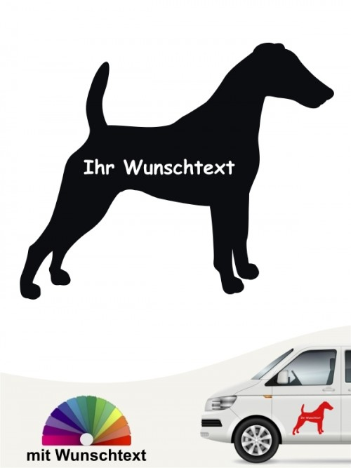 Fox Terrier Silhouette  Autoaufkleber mit Wunschname anfalas.de