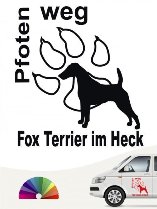 Fox Terrier Pfoten weg Aufkleber anfalas.de