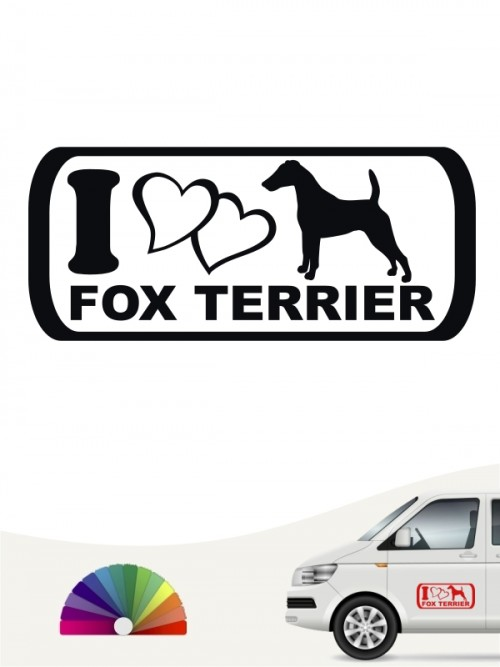 I Love Fox Terrier Autoaufkleber anfalas.de