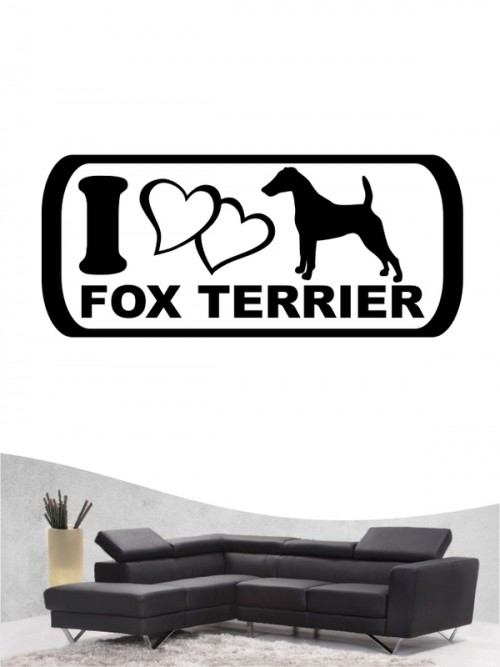 Fox Terrier 6 Wandtattoo