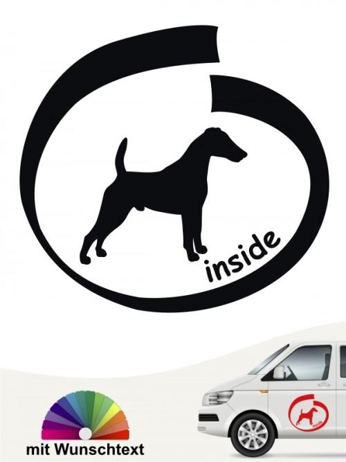 Inside Autoaufkleber Fox Terrier mit Wunschname anfalas.de