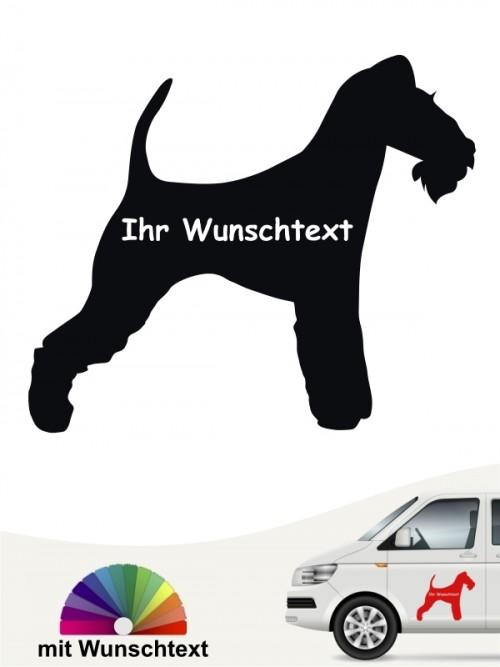 Fox Terrier Silhouette Autosticker mit Wunschtext anfalas.de