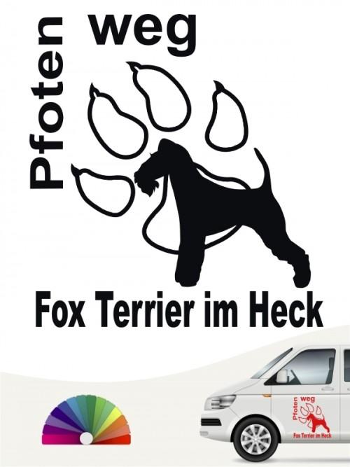 Pfoten weg Fox Terrier im Heck Aufkleber anfalas.de