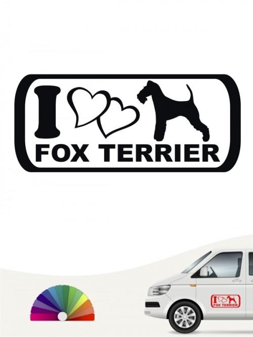 I Love Fox Terrier Rassehundeaufkleber anfalas.de