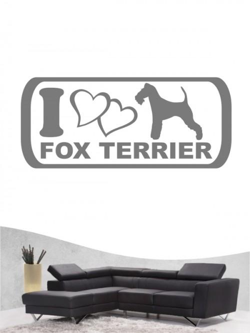 Fox Terrier Drahthaar 6 Wandtattoo