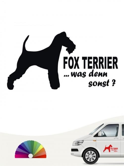 Fox Terrier Drahthaar was denn sonst Autosticker anfalas.de