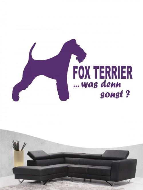 Fox Terrier Drahthaar 7 Wandtattoo