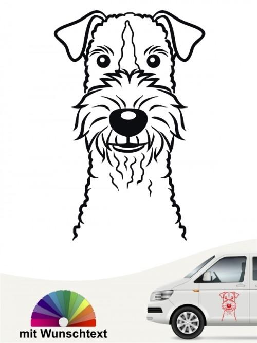 Fox Terrier Hundaufkleber mit Wunschtext anfalas.de