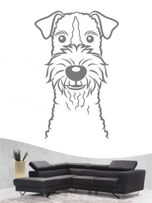Fox Terrier Drahthaar Comic Wandtattoo