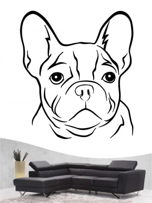 Französische Bulldogge 11 - Wandtattoo