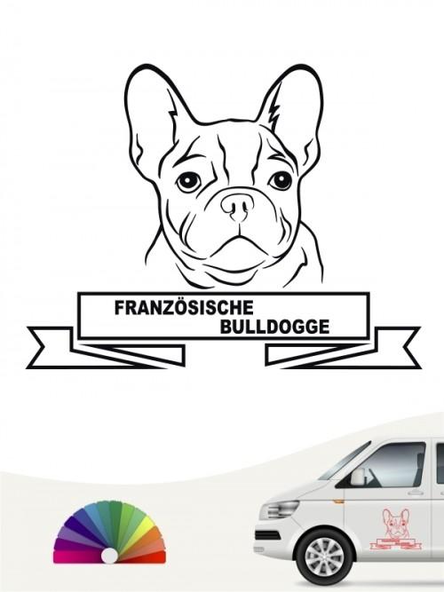 Hunde-Autoaufkleber Französische Bulldogge 15 von Anfalas.de