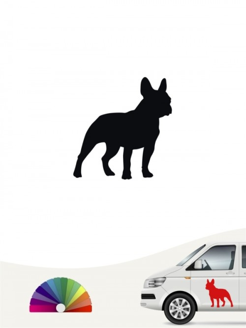 Hunde-Autoaufkleber Französische Bulldogge 1 Mini von Anfalas.de