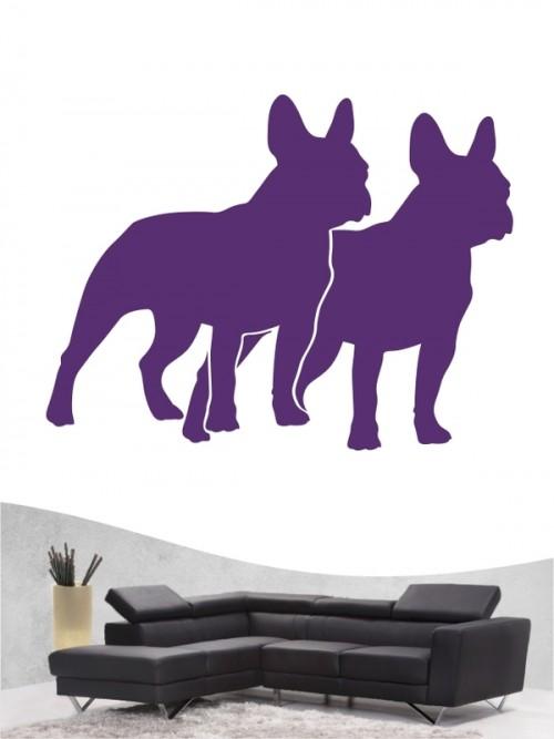 Französische Bulldogge 2 - Wandtattoo