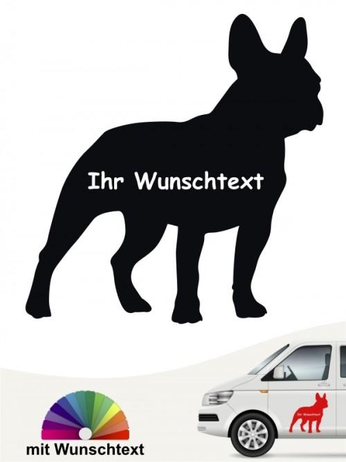 Französische Bulldogge Silhouette mit Wunschname anfalas.de