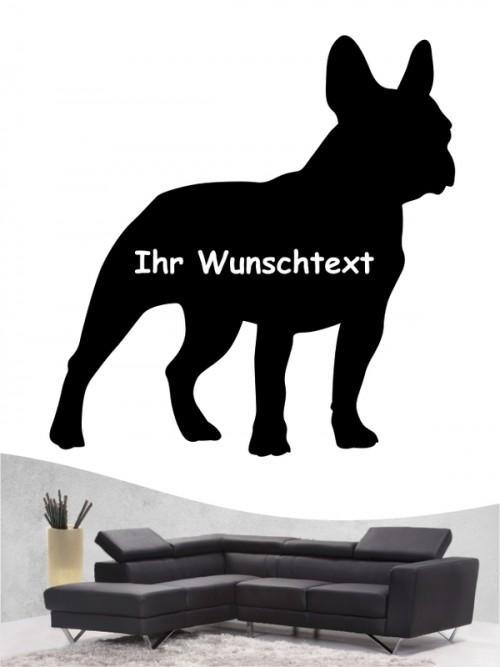 Französische Bulldogge 3 - Wandtattoo