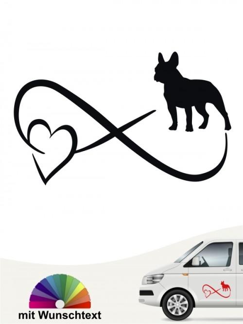 Französische Bulldogge Autoufkleber von anfalas.de