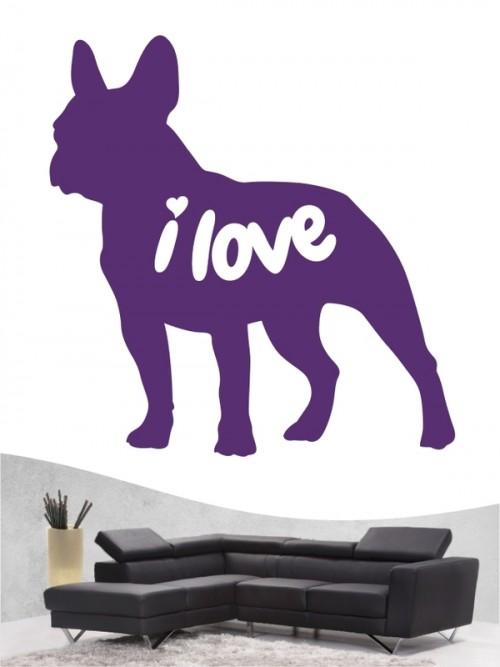 Französische Bulldogge 43 - Wandtattoo