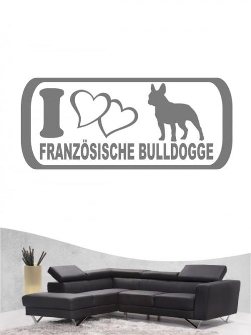Französische Bulldogge 6 - Wandtattoo