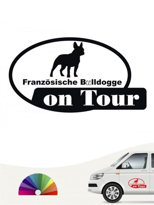 Französische Bulldogge on Tour Aufkleber anfalas.de