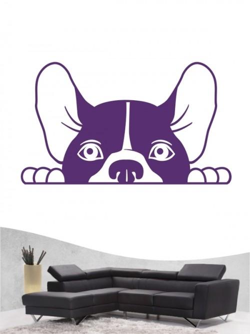 Französische Bulldogge Comic 2 - Wandtattoo