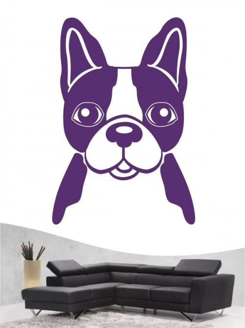 Französische Bulldogge Comic 3 - Wandtattoo