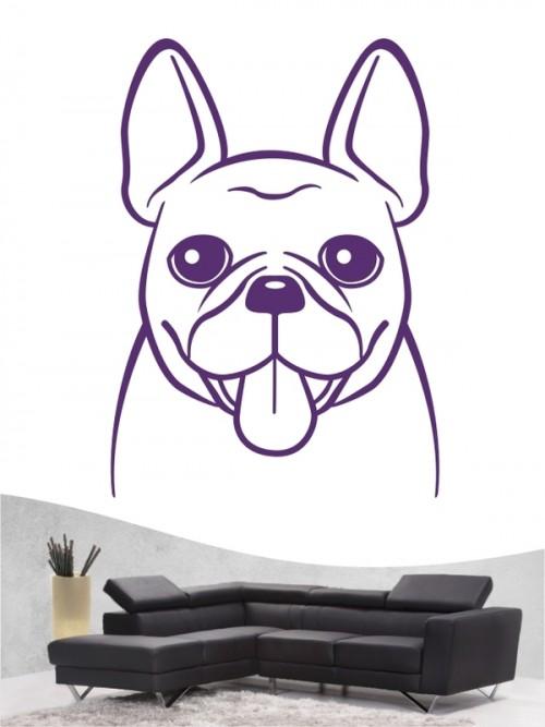 Französische Bulldogge Comic 5 - Wandtattoo