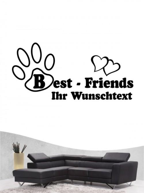 Hunde-Wandtattoo Friends 5 von Anfalas.de