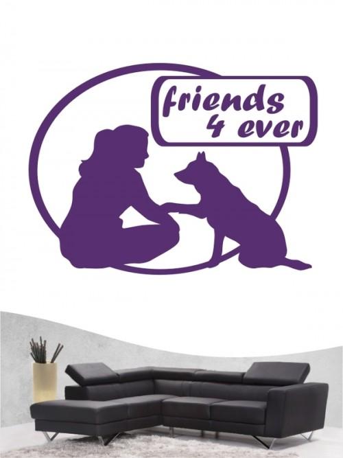 Hunde-Wandtattoo Friends 6 von Anfalas.de
