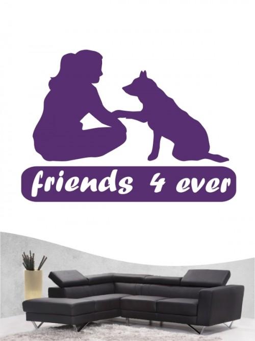 Hunde-Wandtattoo Friends 7 von Anfalas.de
