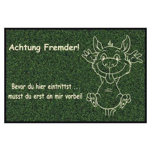 Fußmatte Hundemotiv Fremder Anfalas.de