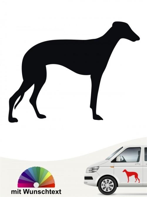 Galgo Hundeaufkleber mit Wunschtext anfalas.de