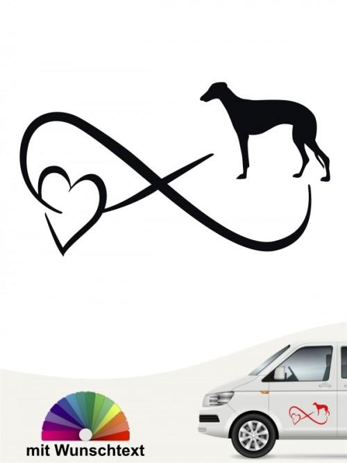 Galgo Autoaufkleber mit Wunschtext