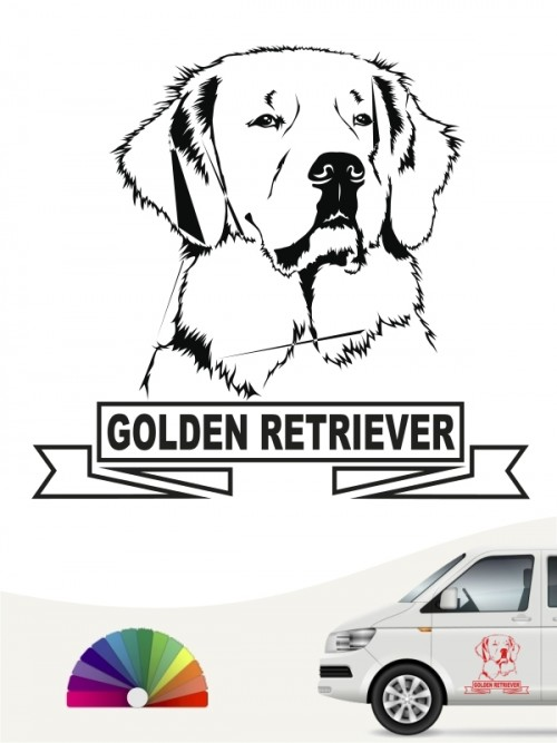 Hunde-Autoaufkleber Golden Retriever 15 von Anfalas.de