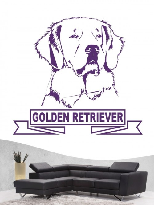 Hunde-Wandtattoo Golden Retriever 15 von Anfalas.de