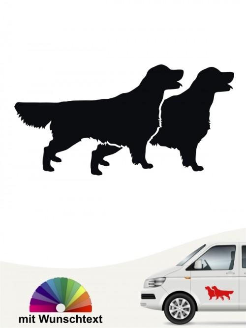 Golden Retriever Hundeaufkleber mit Wunschtext anfalas.de