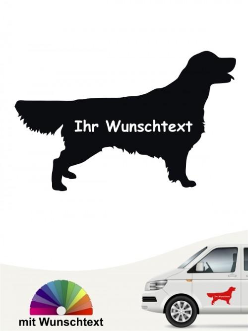 Golden Retriever Heckscheibenaufkleber mit Wunschname anfalas.de