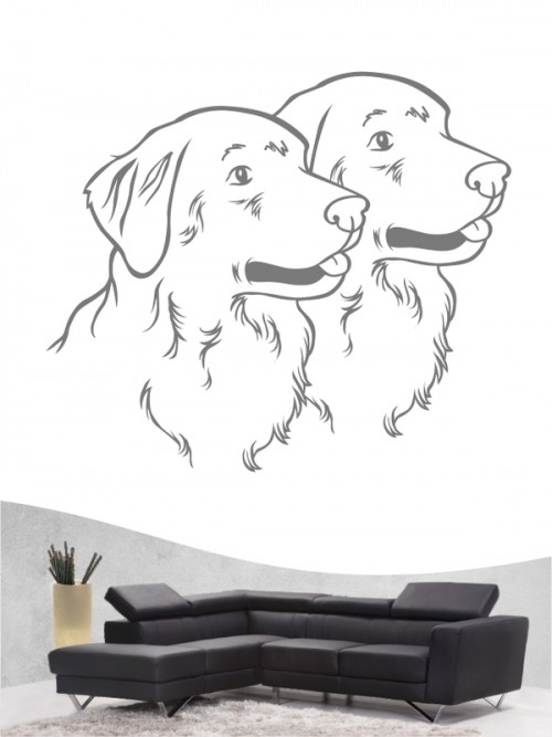 Golden Retriever 31 - Wandtattoo