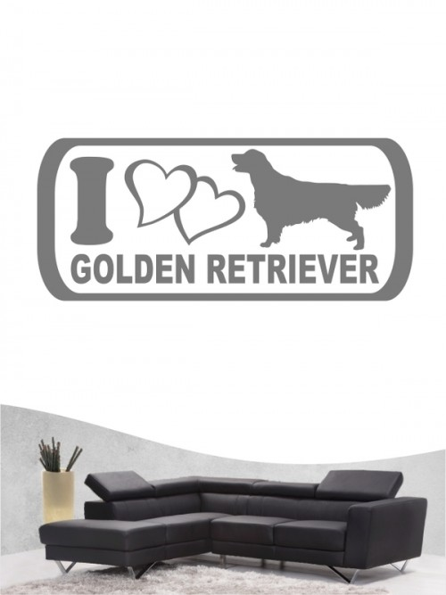 Golden Retriever 6 - Wandtattoo