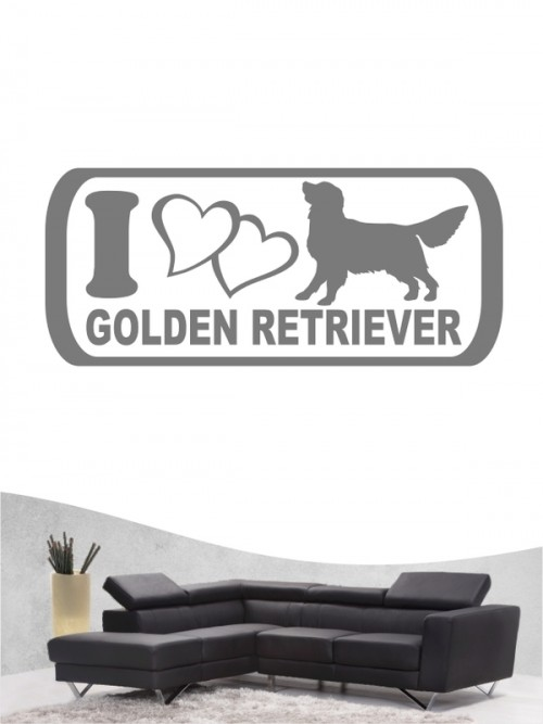Golden Retriever 6a - Wandtattoo