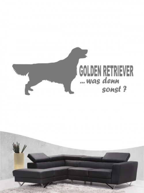 Golden Retriever 7 - Wandtattoo