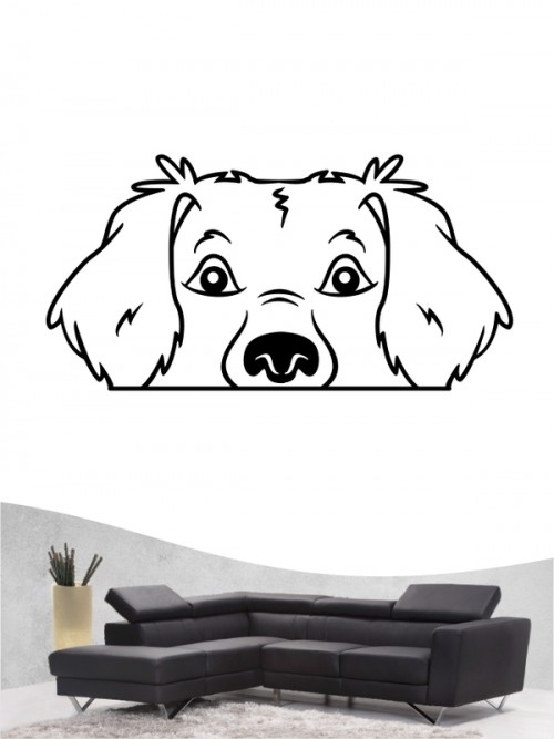 Golden Retriever Comic 1 - Wandtattoo
