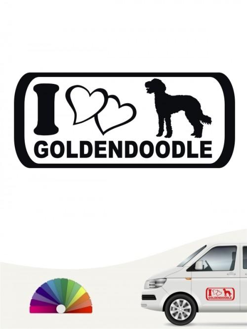 I Love Aufkleber Goldendoodle anfalas.de