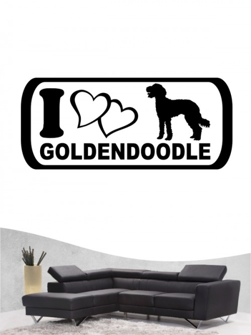 Goldendoodle 6 Wandtattoo