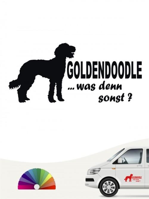 Goldendoodle was denn sonst Autoaufkleber anfalas.de